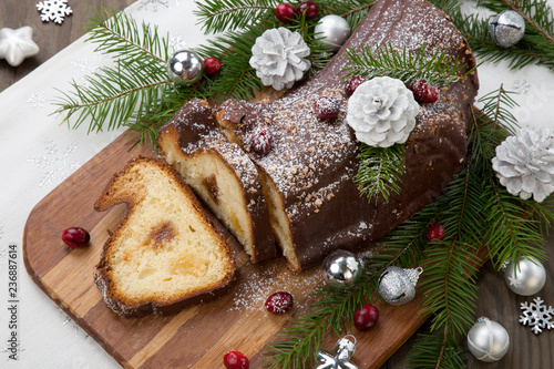 Christmas Chocolate Yule Log Cake