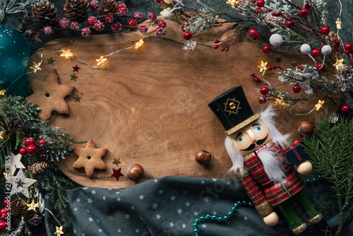 Fotomural  Christmas cookies and festive decor