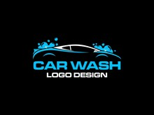 Car Wash Logo Vector Inspiration