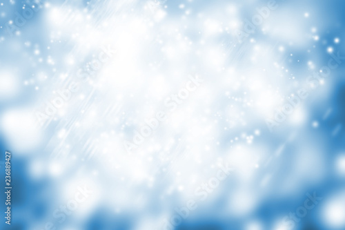 Fototapety, obrazy: white circle on blue blur abstract background. bokeh Christmas blurred beautiful shiny Christmas lights