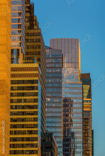 Foto  Manhattan Midtown buidings towers architecture details one of the main Landmarks