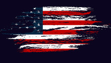 Grunge Flag Of The USA. Vector...