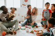 canvas print picture - Diverse children enjoying playing with toys
