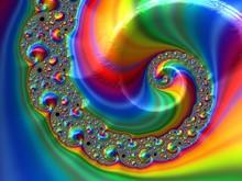 Abstract Rainbow Spiral Textur...