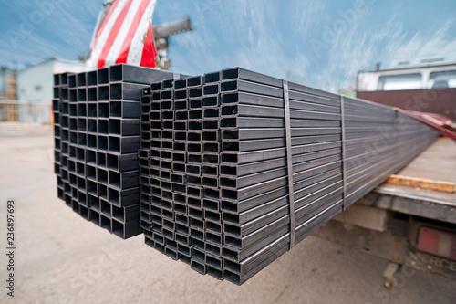 Fotografia Bent metal profile channel on the truck