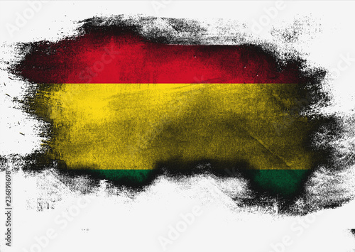 Foto op Canvas Luchtsport Bolivia flag painted with brush