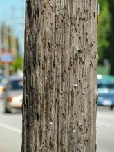 Wooden Pillar On A Street In V...