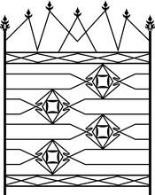 Wrought Iron Gate, Ornamental Design