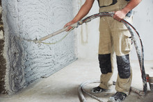 Plastering The Interior Wall W...