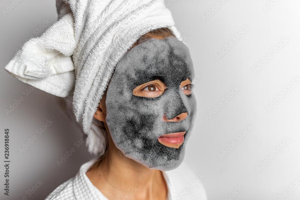 Face Mask Foam Bubbles Charcoal Detox Facial Treatment At
