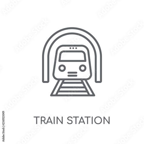 Fotografía  Train station linear icon