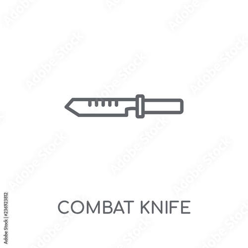 Photo  combat knife linear icon