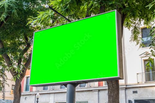 Obraz Outdoor billboard with natural landscape mockup - fototapety do salonu