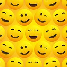 Yellow Smiling Faces - Emoji P...