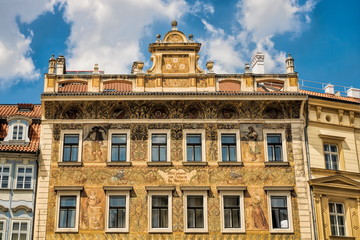 Fototapeta Prag, Sanierter Altbau