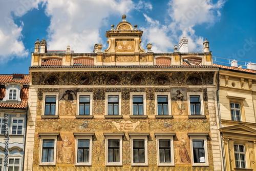 Spoed Foto op Canvas Centraal Europa Prag, Sanierter Altbau