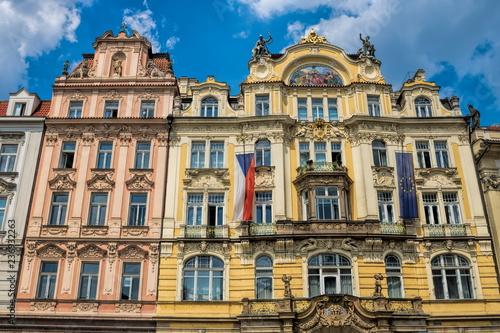 Spoed Foto op Canvas Centraal Europa Prag, Sanierte Häuser
