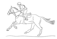 Equestrian Sport, Eventing Competition.