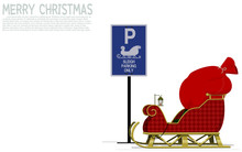 Santa ' Sleigh Is Parked At Parking Area