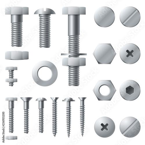 Fotomural Metal screws