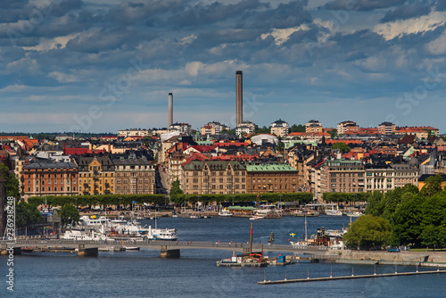Photo  Panoramic view of Old Town (Gamla Stan) in Stockholm, Sweden in a summer