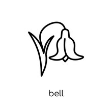 Bluebell Icon. Trendy Modern Flat Linear Vector Bluebell Icon On White Background From Thin Line Nature Collection