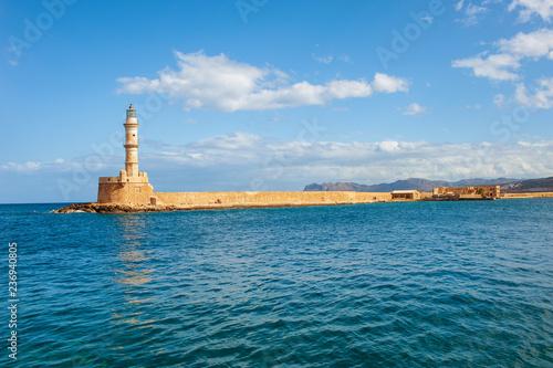 Foto op Aluminium Poort Die Hafeneinfahrt von Chania/Kreta