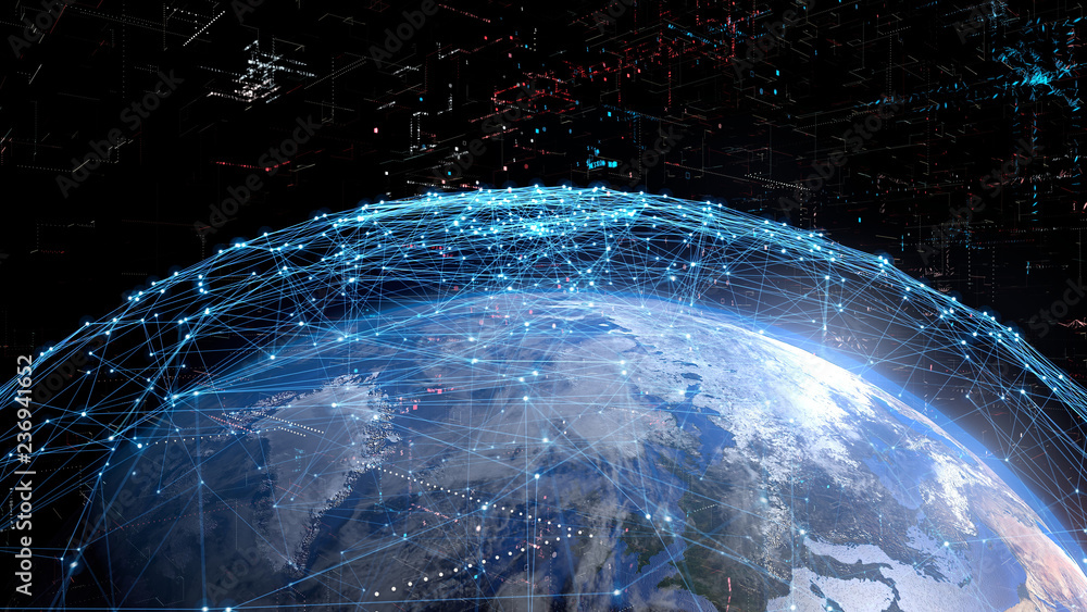 Fototapety, obrazy: グローバルネットワーク
