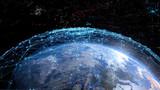 Fototapeta Kosmos - グローバルネットワーク