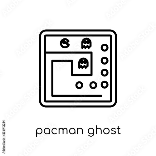 Fotografie, Obraz  Pacman ghost icon from Entertainment collection.