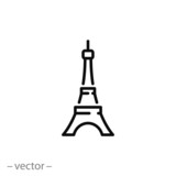 Fototapeta Wieża Eiffla - eiffel tower icon vector