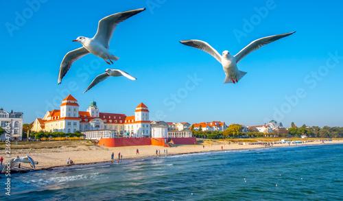 Photo sur Toile Europe Centrale Strandpromenade Binz auf Rügen