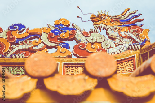 Papiers peints Con. ancienne Imperial Royal Palace of Nguyen dynasty in Hue, Vietnam. Hue is one of the most popular destinations in Vietnam.