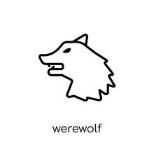 Werewolf Icon. Trendy Modern F...