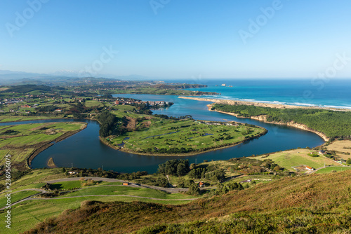 Mogro estuary form La Picota mountain, Cantabria, Spain