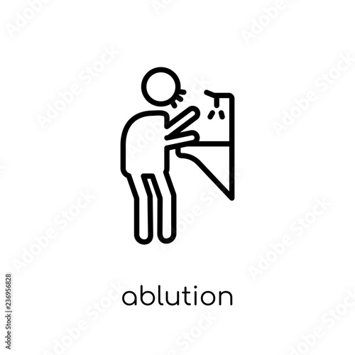 Fotografia, Obraz  ablution icon from Hygiene collection.