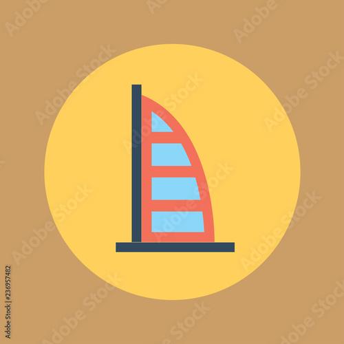 Photo  burj-al-arab hotel icon. flat design