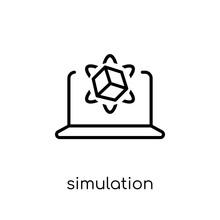 Simulation Icon. Trendy Modern...
