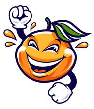 Funny Cartoon Mandarin Vector ...