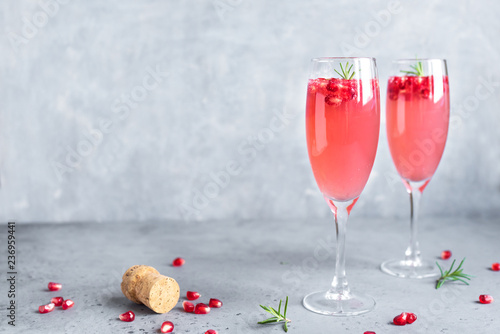 Pomegranate Mimosa Cocktail