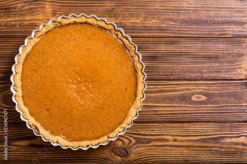 Fotografia, Obraz Homemade american traditional pumpkin pie