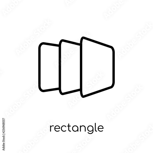 Fotografie, Obraz  Rectangle icon from Geometry collection.