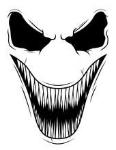 Scary Smiling Face