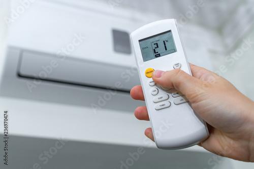 Valokuva  Air conditioner inside the room