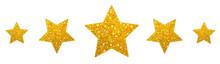 Goldene Glitzersterne Reihe