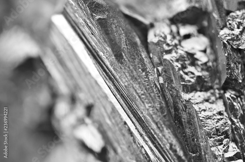 Fotografía  Black and white background of the quartz surface. Macro.
