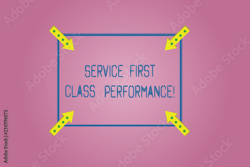 Word Writing Text Service First Class Perforanalysisce Business Concept For Great Services High Quality Top The Best Square Outline With Corner Arrows Pointing Inwards On Color Background Buy This Stock Illustration