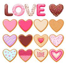 Valentine's Day Cookies Set.