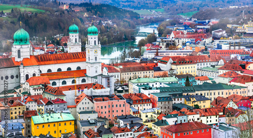 Best of Germany - beautiful town Passau in Bavaria