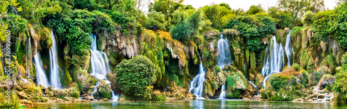 Canvas Prints Forest river Kravica waterfalls on the Trebizat River in Bosnia and Herzegovina